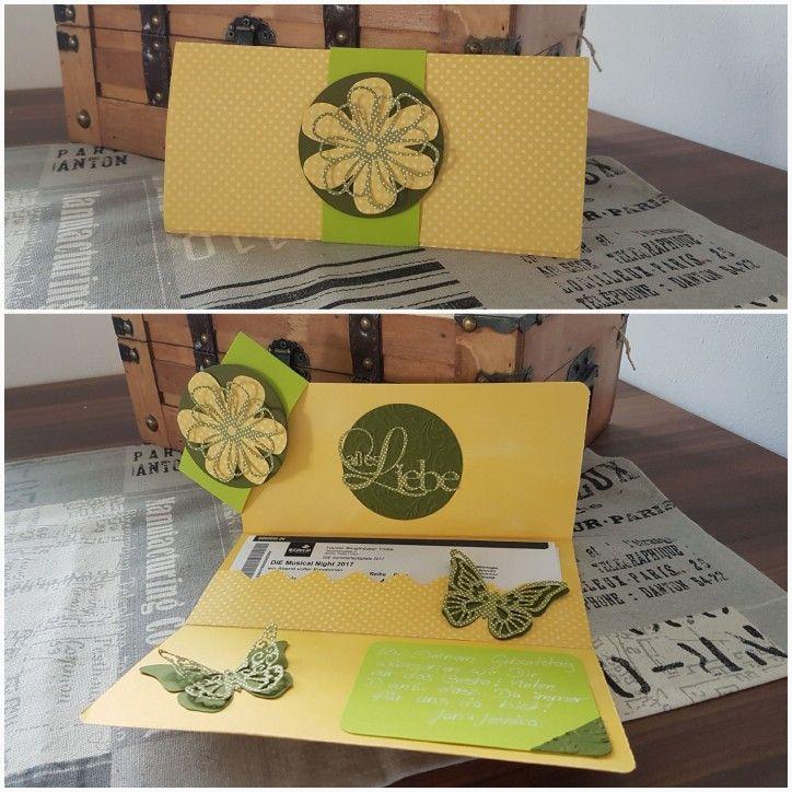 Verpackung Konzertkarten / Tickets #konzertkartenverpacken