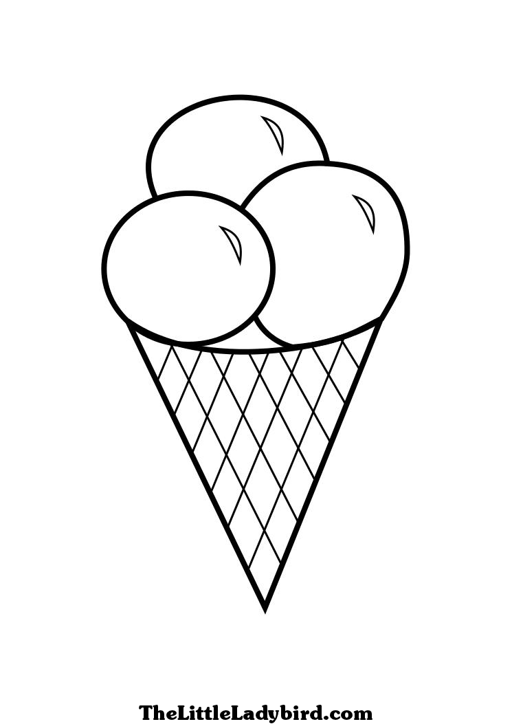 ice cream stand coloring pages - photo#30