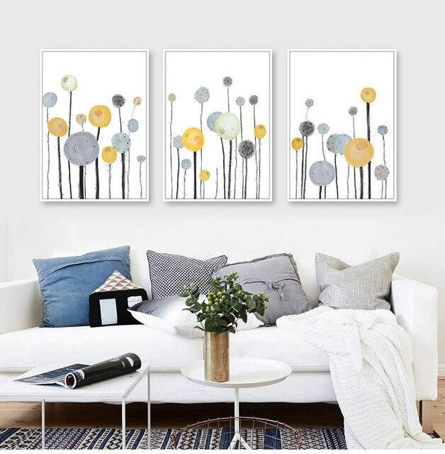 Photo of Flower Watercolor Nordic Canvas Painting Living Room Girl Bedroom Wall Art Print Picture Poster Home Decor No Frame Painting – 13x18cm no frame / ABC