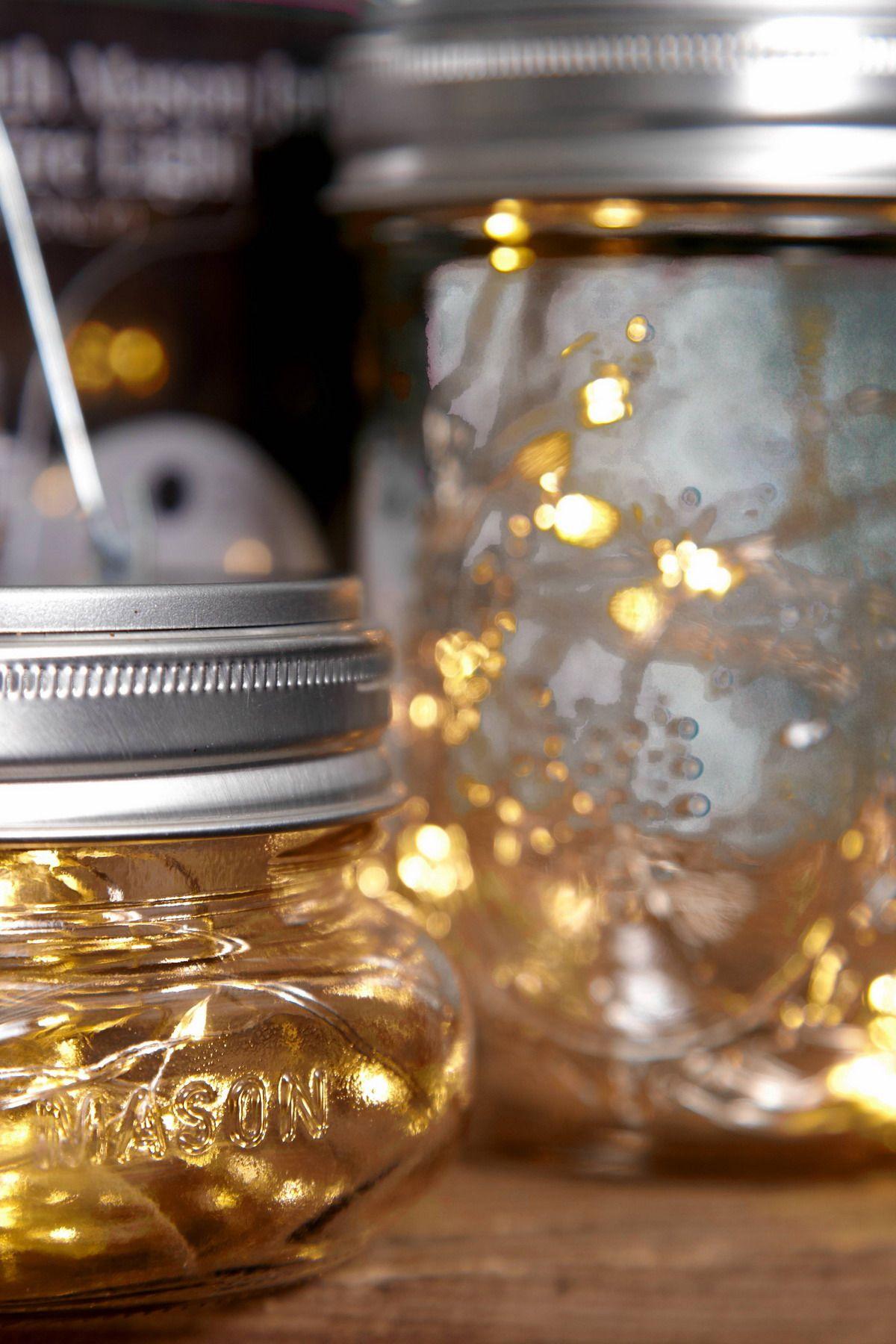 Uncategorized Lights In A Mason Jar warm white mason jar lights lighting and fairy battery op fits a wide mouth mason