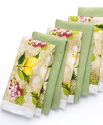 The Big One 6 Pc Fruit Kitchen Towel Set Towel Set Kitchen