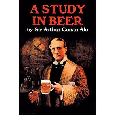 Buyenlarge A Study in Beer Sir Arthur Conan Doyle by Wilbur Pierce Vintage Advertisement