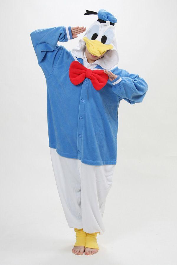 Pyjama Animal Adultes Kigurumi Cosplay Ornithorynque Orange Animal pour Unisexe