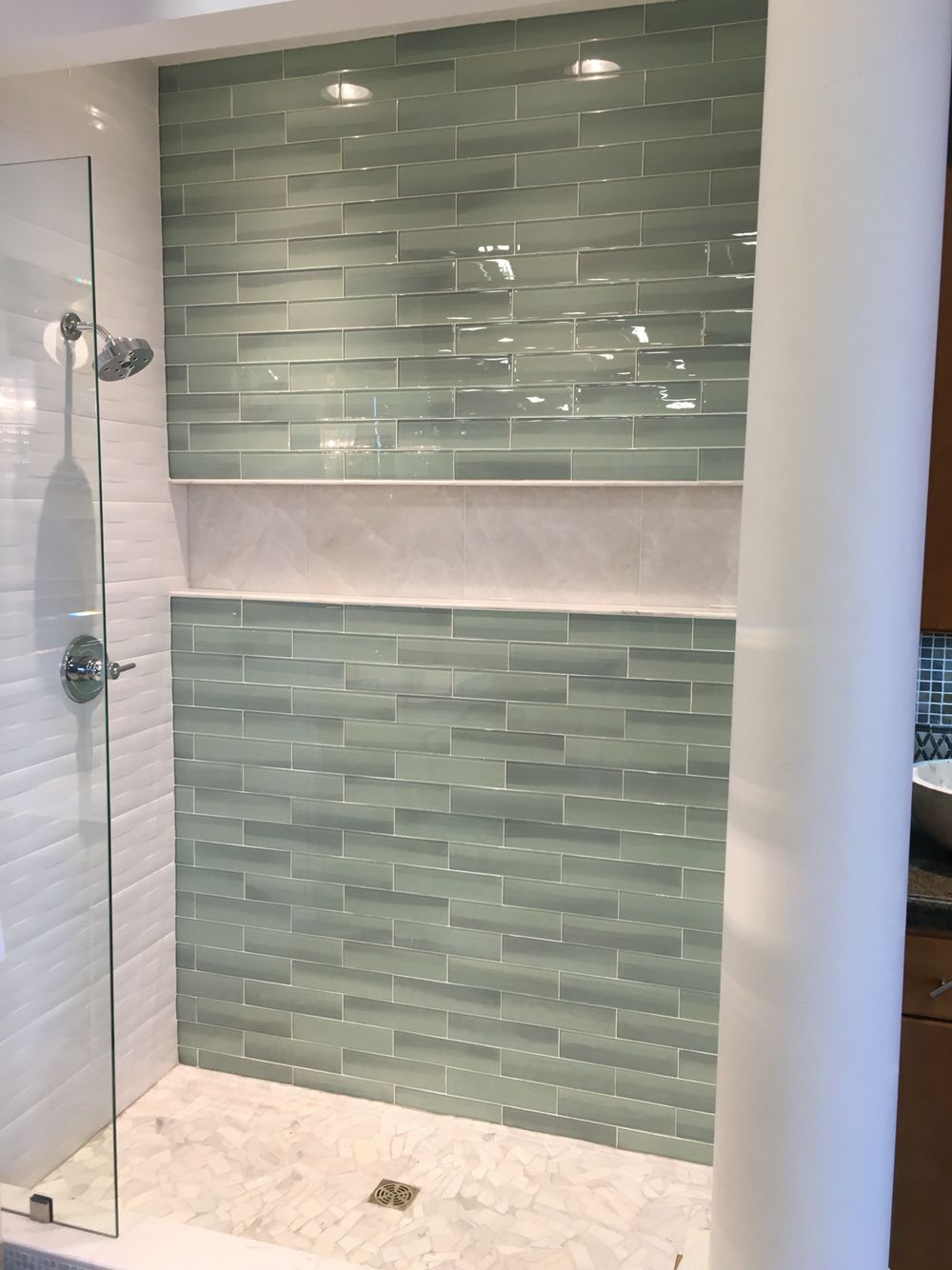 Shower Storage Alcove With Images Bathroom Tub Shower Guest