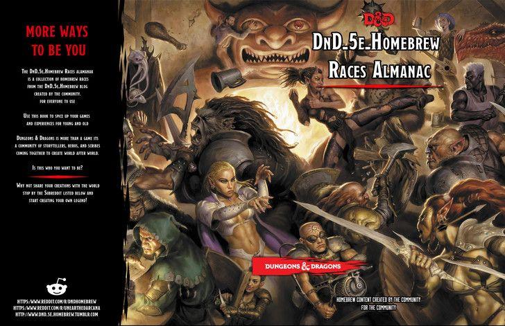 DnD-5e-Homebrew Races Almanac   D & D   Dnd 5e homebrew, Dnd