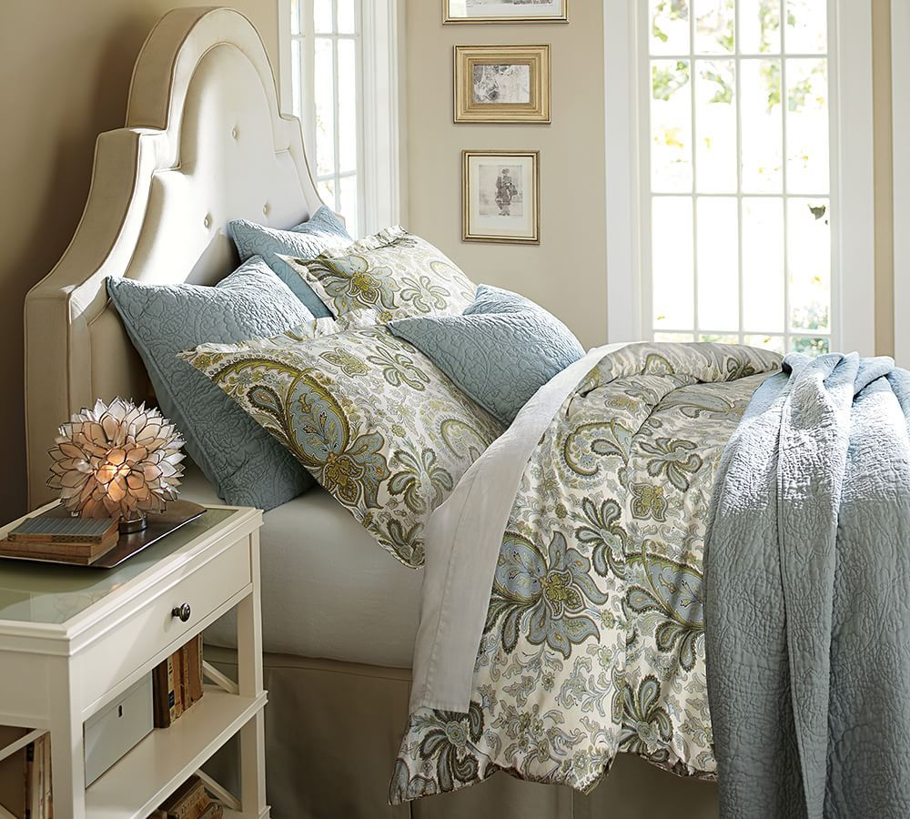 Bedrooms Pottery Barn Inspired: Charlie Paisley Organic Duvet Cover & Sham