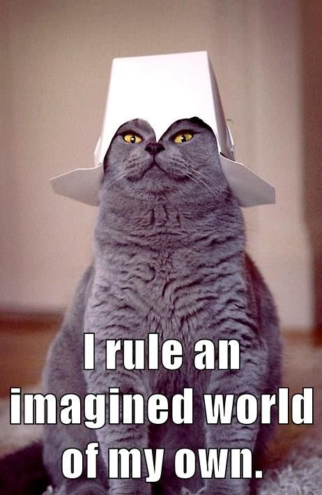 English I Rule An Imagined World Of My Own Cat Memes Funny