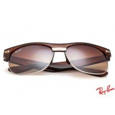 RayBans RB20257 Clubmaster Oversized sunglasses with brown frame and brown  lenses 364cf894e2a1