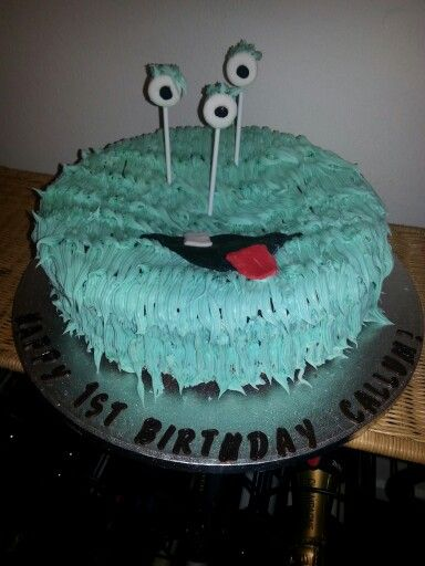 Monster cake I made for my baby boy's 1st birthday.