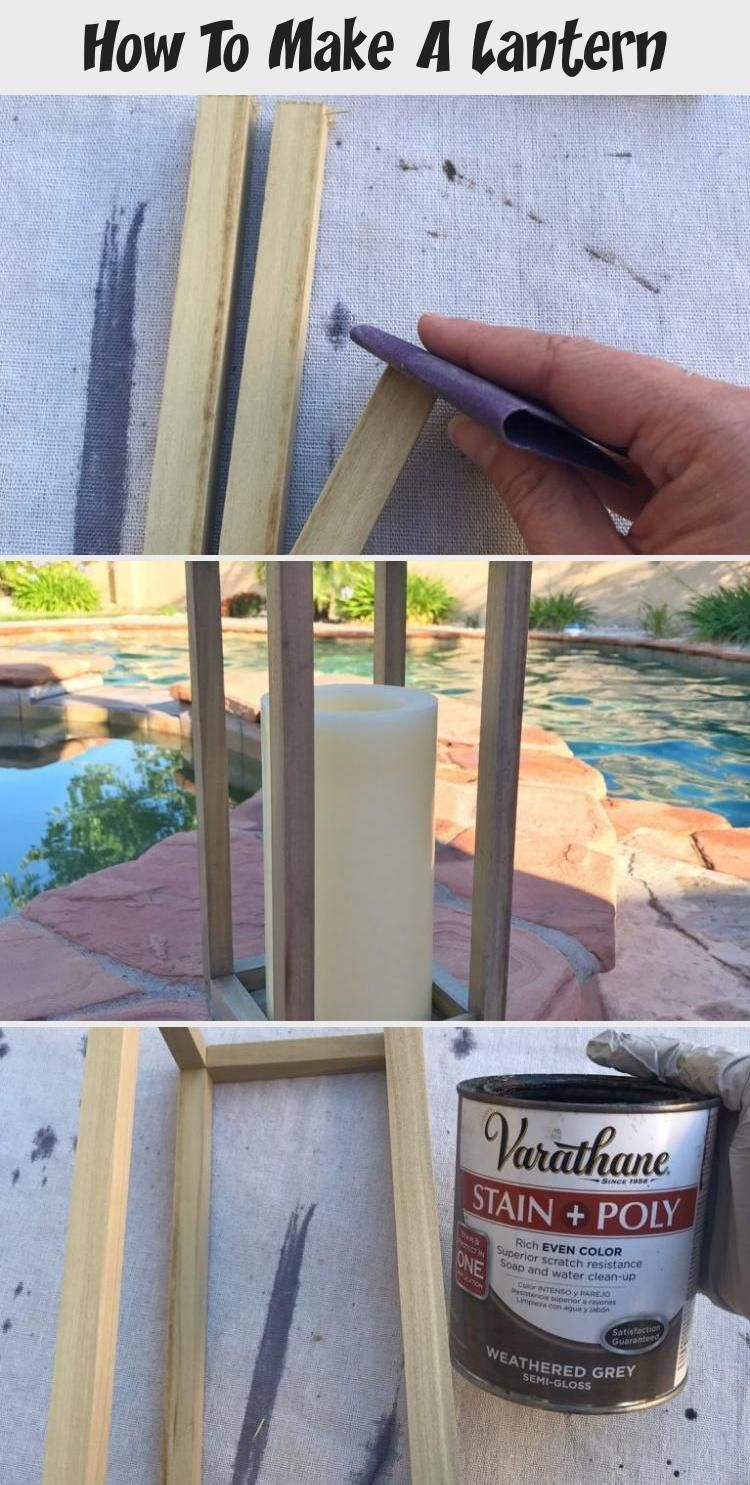 Today We Are Sharing Our DIY Outdoor Lantern. With Our Step-By-Step Tutorial You Will Learn How To Make A Lantern For Your Own Home. This Wood Lantern Is Perfect For Decor Inside Or Outside Of Your Home. #outdoordecor #woodlantern #outdoors #lantern #diydecor #homedecor #woodprojects #easywoodprojects #howtobuildlantern #HomeDecorDIYOutdoor
