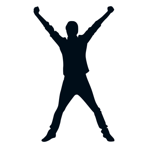 Happy Man Jumping Silhouette Happy Silhouette Ad Sponsored Paid Man Happy Silhouette Happy Silhouette Photography For Sale Celebrating Success