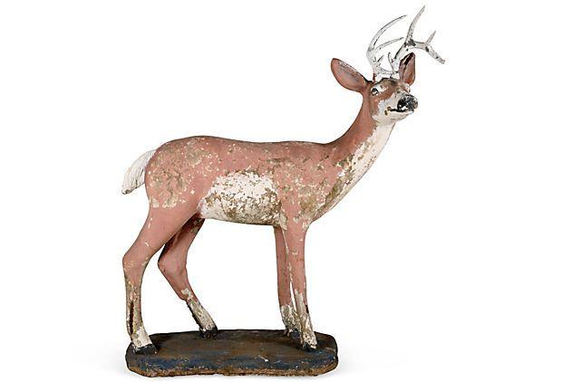 Everyone Needs A Life Sized Concrete Deer In Their Lives Life Size Concrete Deer On Onekingslane Com Deer Woodlands Indoor Camping
