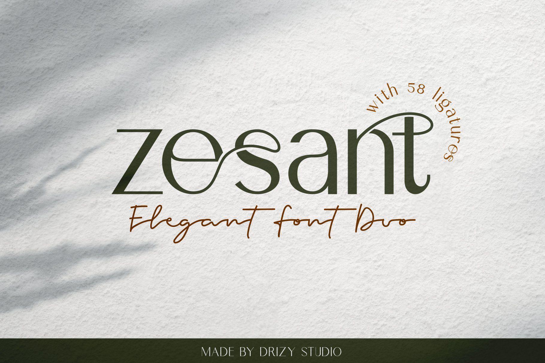 Zesant   Beautiful sans serif fonts, Sans serif fonts ...