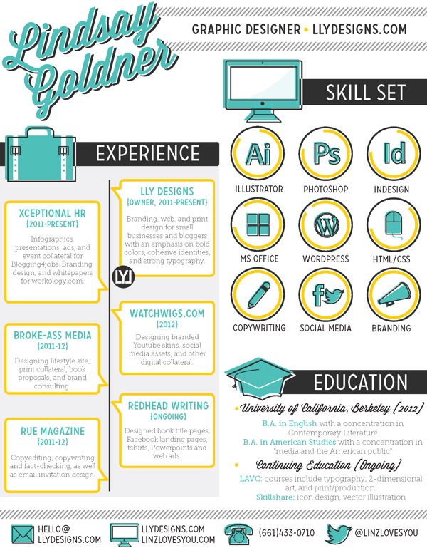 Cool Creative Resume  Resumes    Graphic Design Resume