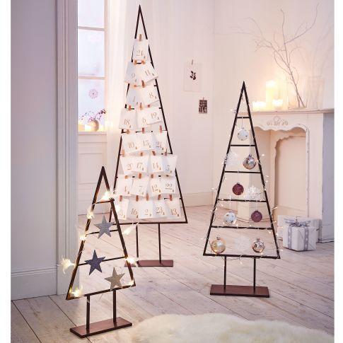 deko objekt christbaum dekorierbar metall vorderansicht. Black Bedroom Furniture Sets. Home Design Ideas