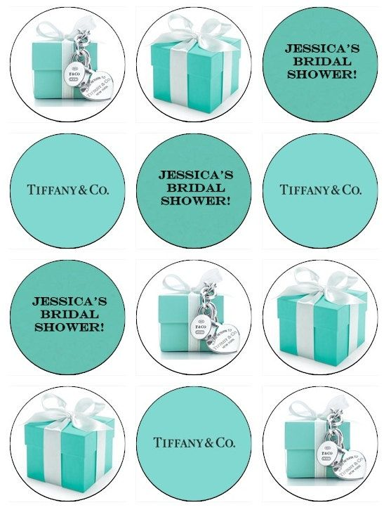 e459aa9fb06 Tiffany & Co. Edible Cupcake Toppers 12 Tiffany and Company images for  cupcakes, cookies, cake, tiffany blue. $6.50, via Etsy.
