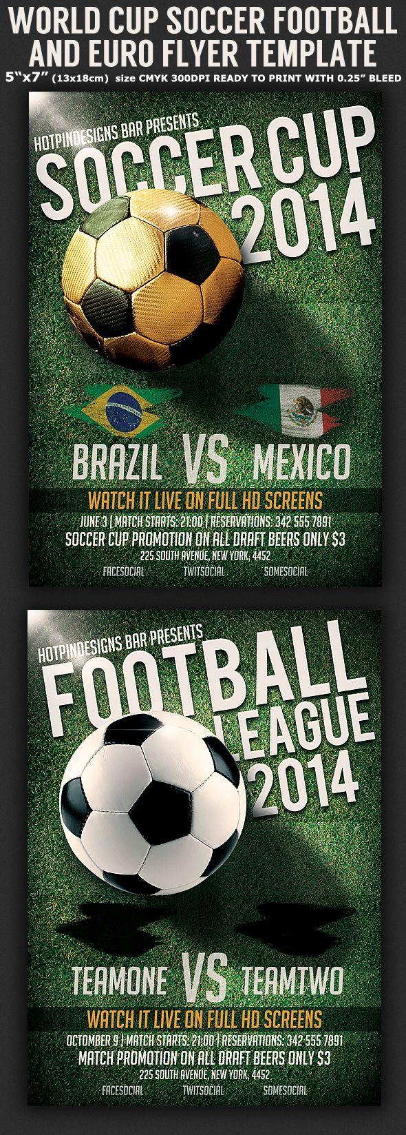 Brazil Soccer Football World Cup Flyer Template On Behance Fussball