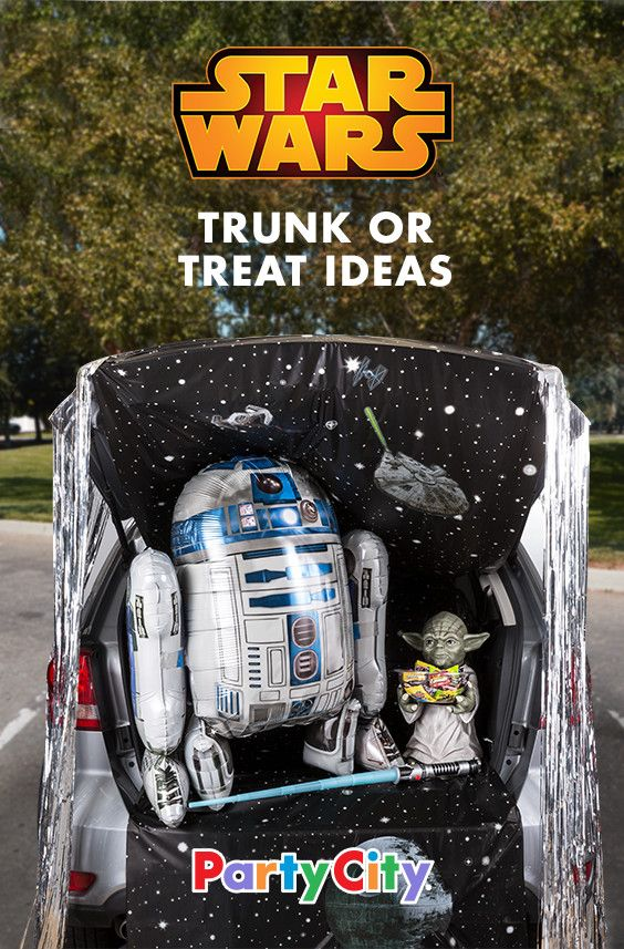 Take your trunk or treat theme to a galaxy far, far away with this - halloween trunk or treat ideas