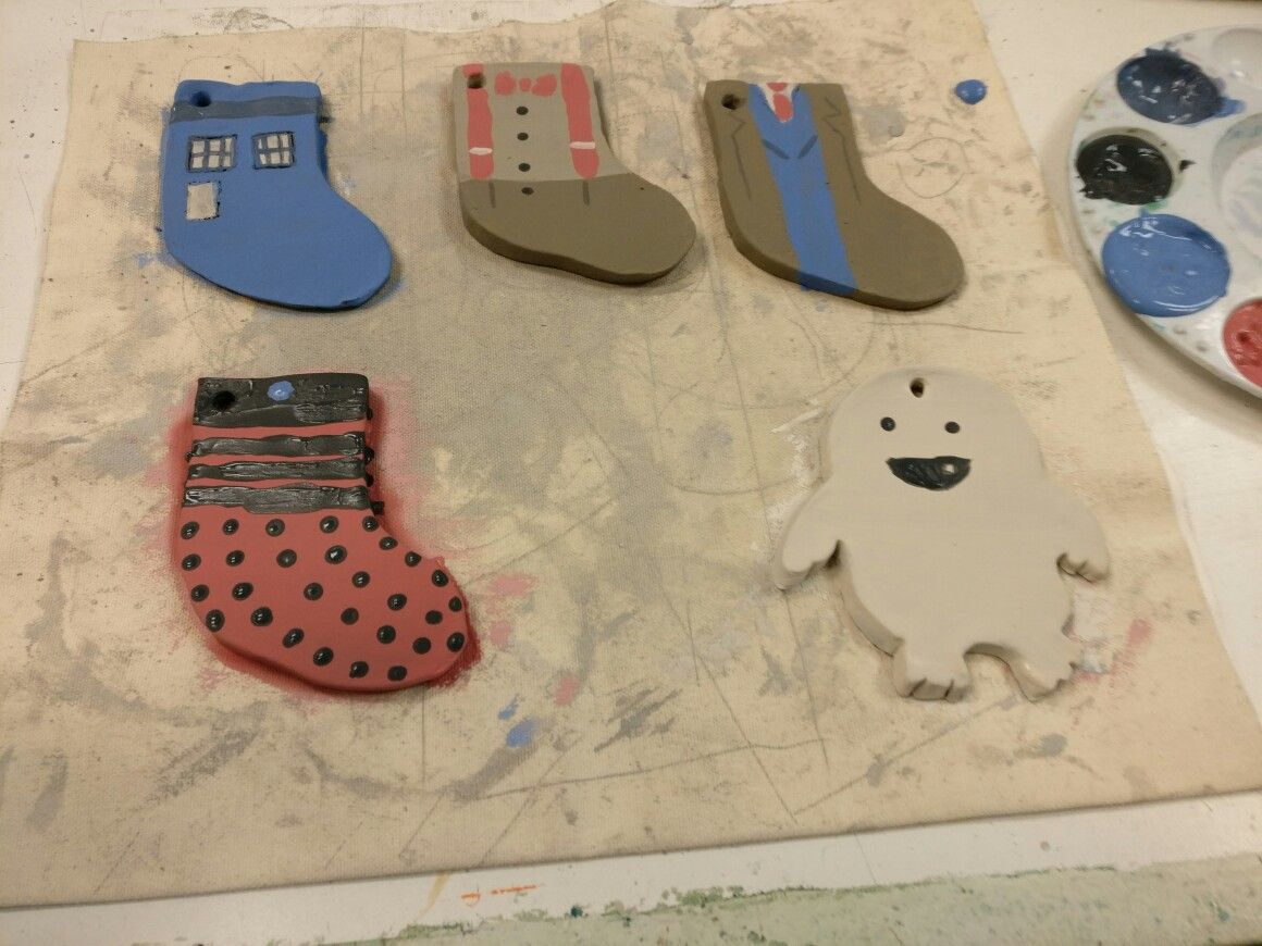 Christmas ornaments I made out of clay