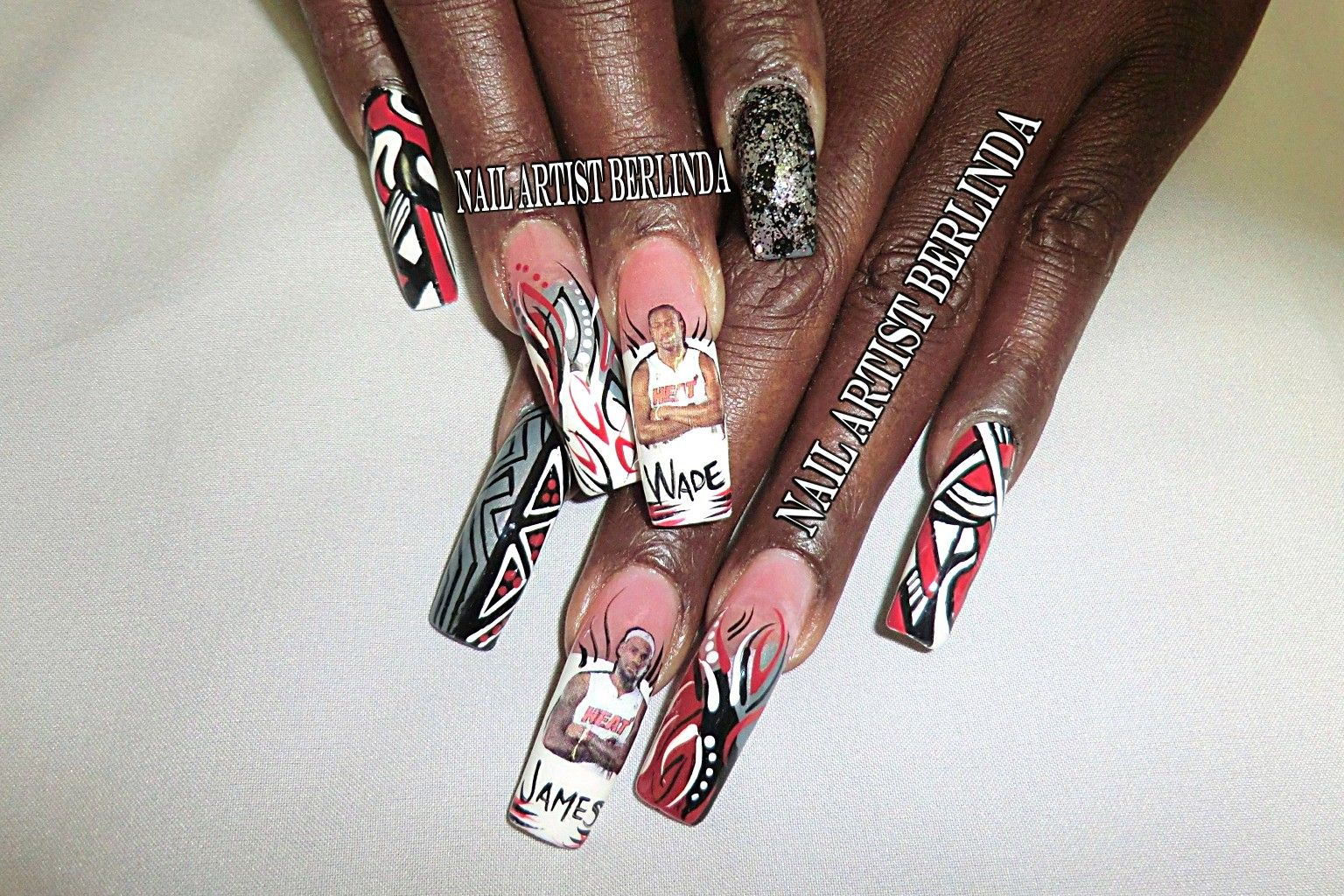Heat Nation at www.nailartistberlinda.com | Extravagant Nail Art ...
