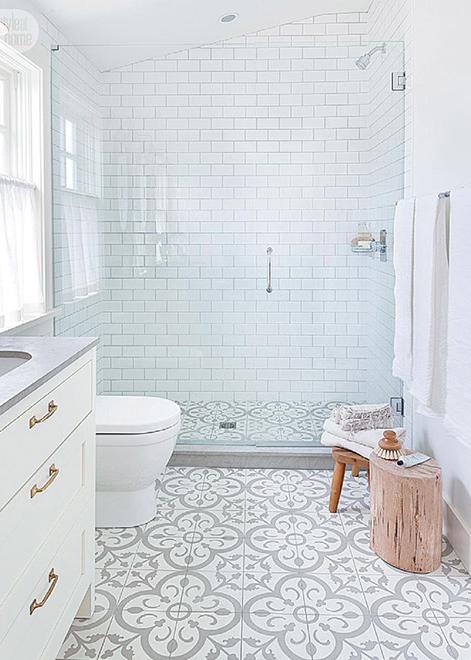Amazing Patterned Cement Tile Inspiration Barry Calhoun Modern Farmhouse Bathroom Bathroom Inspiration Small Bathroom Remodel