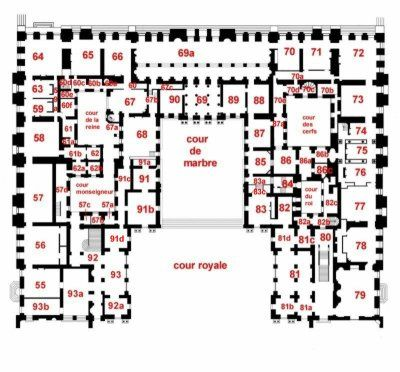 plan grands appartements versailles