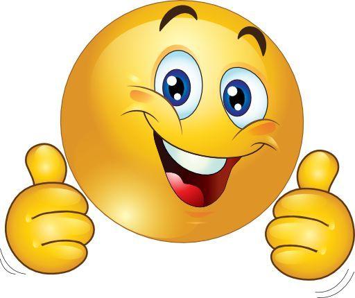 Smiley - duim omhoog! | Grappige gezichten, Smiley, Emoties