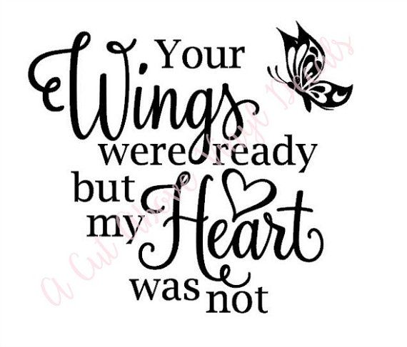 Your Wings Were Ready Butterfly Vinyl Decal Sticker, Fits