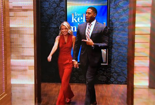Kelly Ripa Slays In Red Hot Jumpsuit After Returning To 'Live'