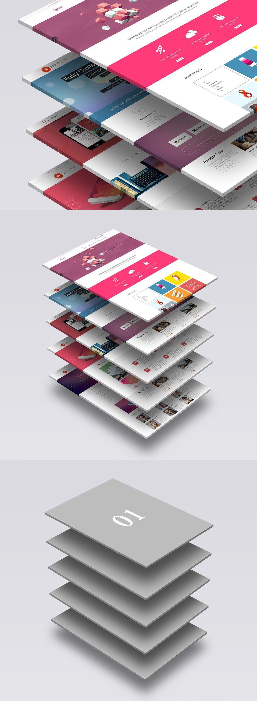 3d Website Mock Up 1 Web Design Mockup Mockup Web Box