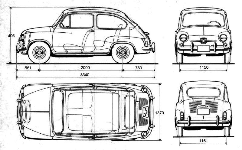 Lokoloko Vinilo coches Seiscientos 600 Fiat t Fiat 600