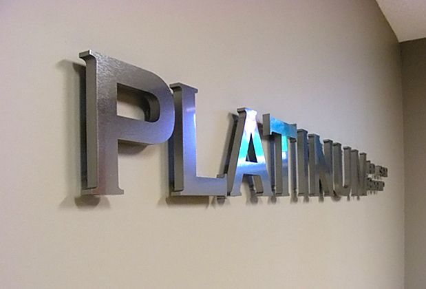 Platinum Logo | Signage - Materials | Pinterest | 3d signs, Office ...