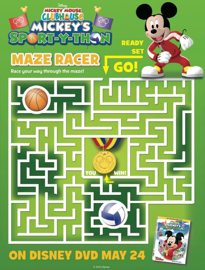 Free Mickey Mouse Clubhouse Maze Mickey Mouse Clubhouse Mickey