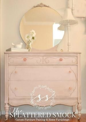 "SOLD: Pink Dresser, Shabby Chic, Hand Painted with Annie Sloan's ""Antoinette"" Chalk Paint on Etsy, $420.00 by cecelia"