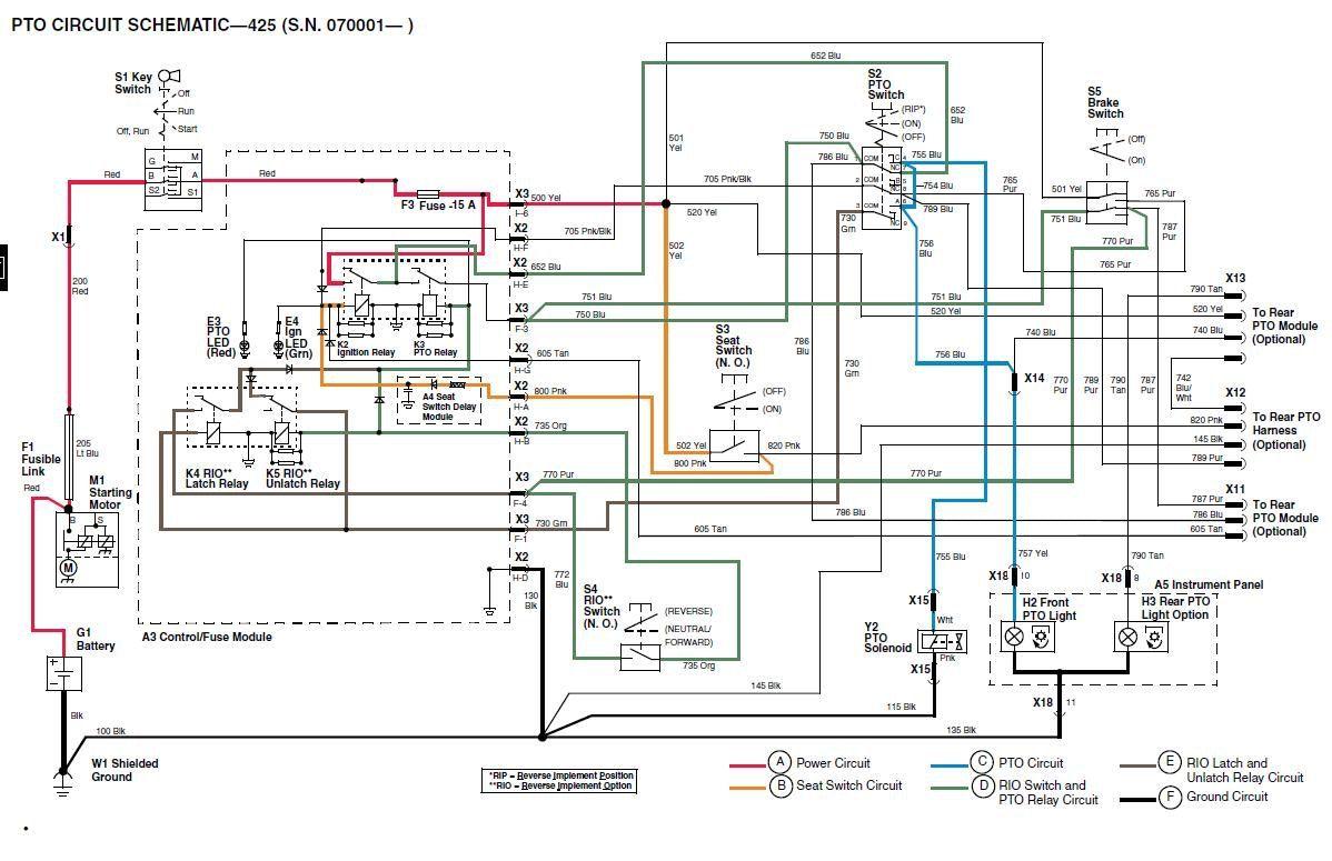 John Deere 455 Pto Wiring Diagram Lambretta Varitronic 445 Garden Tractor Parts Medium Resolution Of 425 Online Jd Fuel System