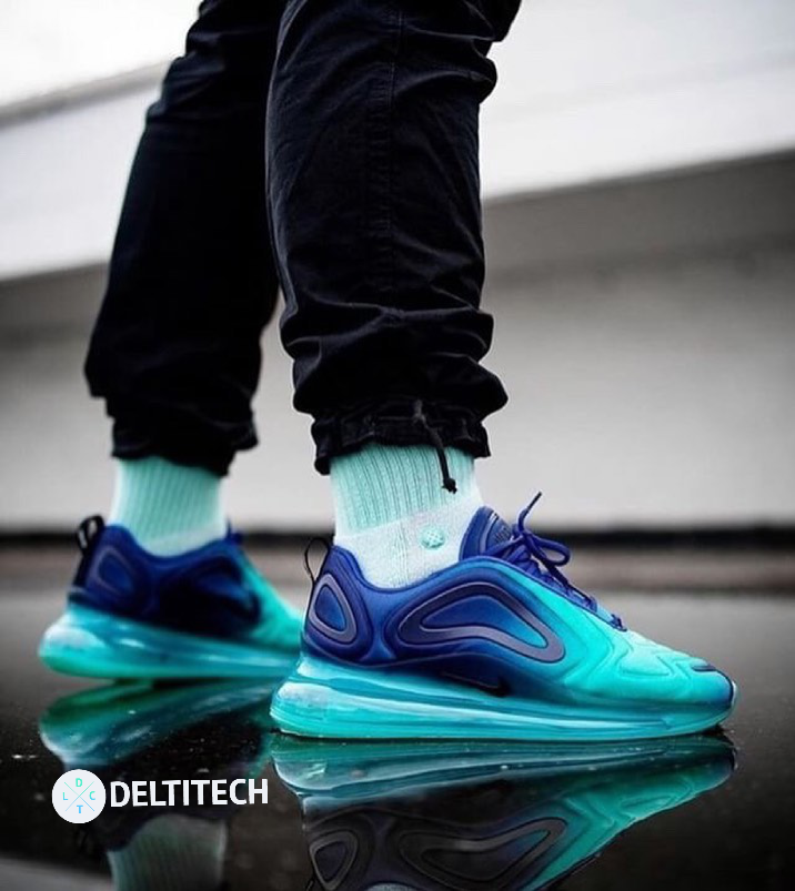 Desviación malta Iluminar  Nike Air Max 720 - Neon Blue | Nike air shoes, Nike air max, Nike air