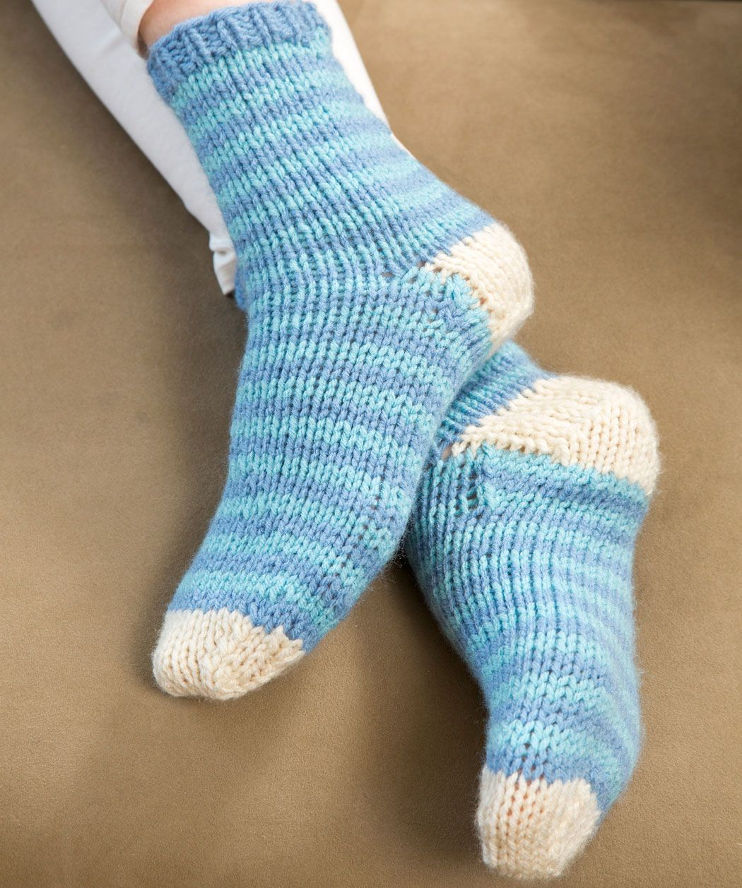 Relax At Home Knit Socks Easy Double Pointed Needles One Set Each