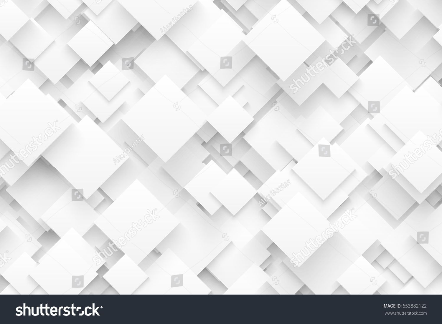 Abstract 3d Vector Technology White Background Blank Backdrop