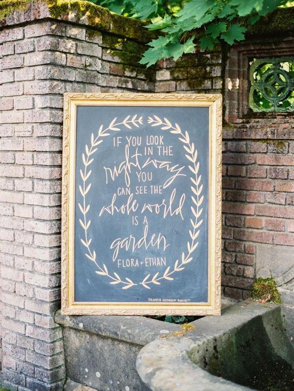 Calligraphed Chalkboard Wedding Sign   Anna Peters Photography on @CVBrides via @aislesociety  via