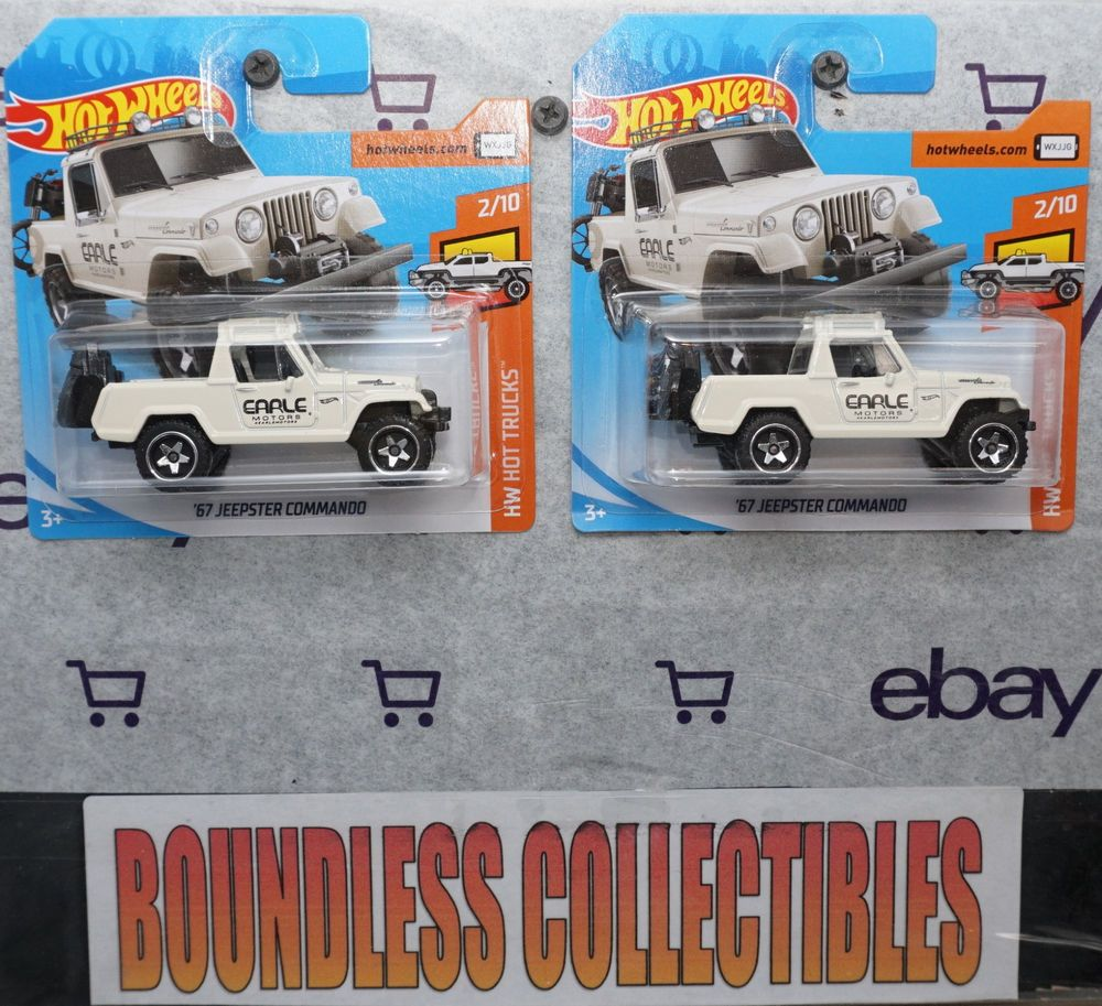 Hot Wheels 2019 Lot Of 2 1967 Jeepster Commando White Hw Hot Trucks Hotwheels Jeep Jeepster Commando Hot Wheels Jeepster
