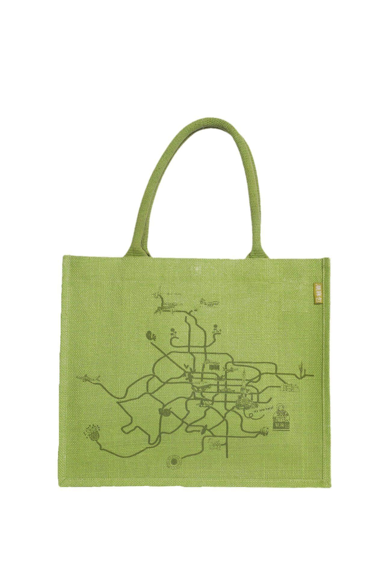Eco-Friendly Jute Tote Bag Set, Green: KK Jute Bag Green Tote with ...