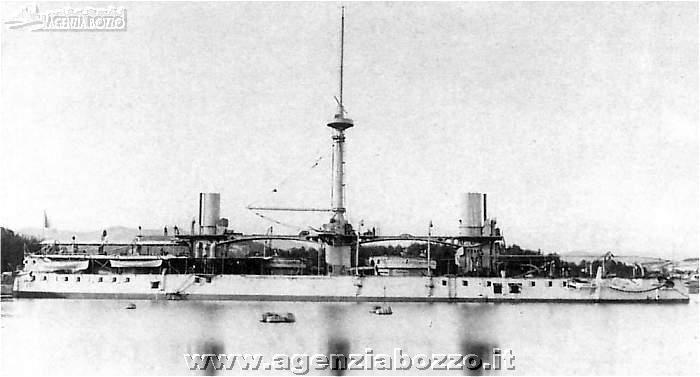 Navi da guerra rn caio duilio 1876 corazzata alla boa for Andrea doria nave da guerra