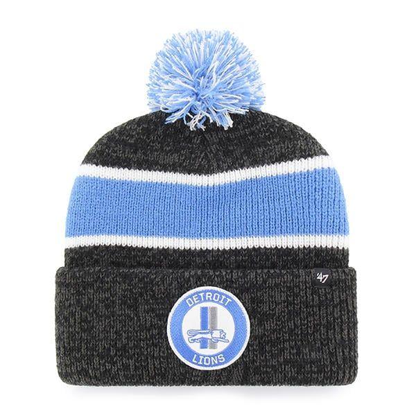 68c075cf138 Detroit Lions 47 Brand Vintage Legacy Black Cuff Knit Hat
