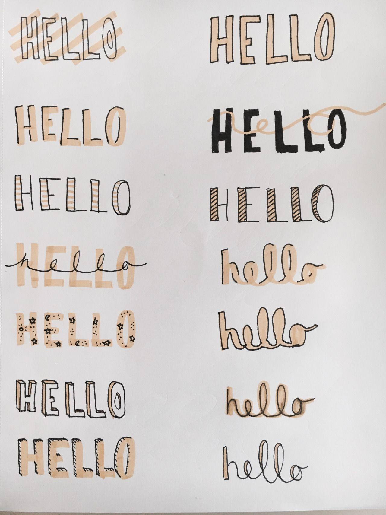 Tipos de letra notes letras letra bonita y caligraf a - Formas de letras para decorar ...