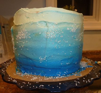 Ombre cake, baked by my cousin - the inside is just as beautiful!