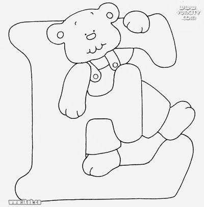 Pintura Em Tecido Passo A Passo Alfabeto Com Ursinhos Para Pintar