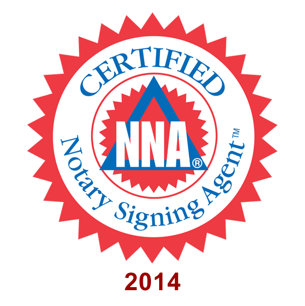 I am certified as a signing agent with the National Notary