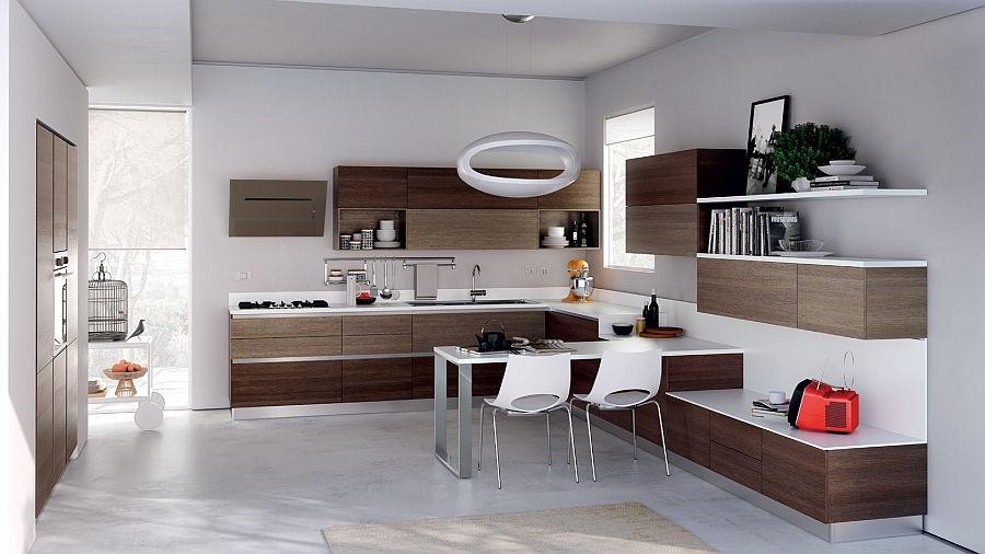 12 Exquisite Small Kitchen Designs With Italian Style Stylish Kitchen Design Brown Kitchen Designs Modern Kitchen Design