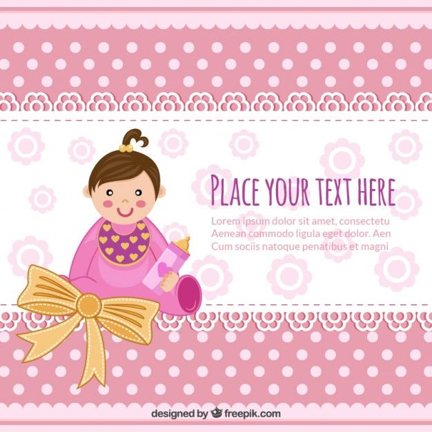 baby-shower-invitation-with-baby-girl_23-2147510601jpg (626×626 - free download baby shower invitation templates