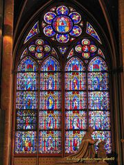 Panoramio - Photo of Stained Glass inside Notre Dame Cathedral